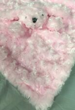 Blankets and Beyond Pink Puppy Dog Security Blanket Lovey & Gray Rosette Swirl