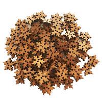 100Pcs Schneeflocken Knöpfe für Kinder Kinderknöpfe Holzknöpfe Knopf zum