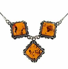 """18"""" Inch/45cm Baltic Amber Sterling Silver 925 Ladies Necklace Jewellery Jewelry"""