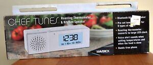 Maverick Chef Tunes Bluetooth Speaker & Roasting Thermometer, White ~ MIB