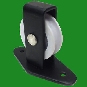 Pulley-Single Upright Black Nylon Wheel For Washing Line Garden Outdoor Rope