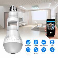 Cámara De Seguridad IP Panorámica 360 ° Bombilla HD 1080P Wifi Camara Oculta espía