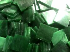 Stained Glass Mosaic Tiles - 25 ct - 3/4 inch Dark Green Opalescent - Dti
