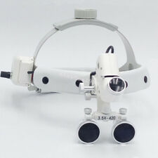 Usa Dental Binocular Loupes Surgical Glass Magnifier Led Headlight 35x 420mm