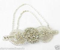 Chaine En Argent Broche/Pince Cheveux Années 1920 Tambour Grand Gatsby