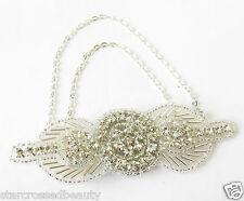 Silver Chain Brooch or Hair Clip 1920s Flapper Great Gatsby Dress Headpiece R82