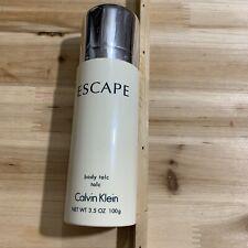 ESCAPE by Calvin Klein 100 g/ 3.5 oz Perfumed Body Talc 80% Full
