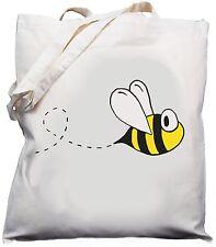 Bumble Bee Design Natural (Cream) Cotton Shoulder Bag / Shopper /Tote