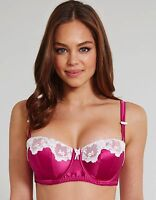 Lepel Victoria Pink and Ivory Padded Balcony Bra 143704 Size 30-38DD