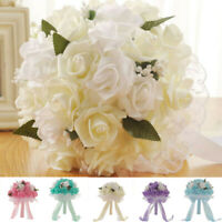 Artificial Rose Wedding Flower Bride Bouquet Party Bridal Bridesmaid Gift NEW