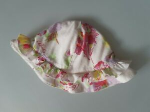 Immaculate TED BAKER Baby Girls Reversible Pink Floral Sun Hat ❤️ 3-6 Months