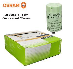 BULK 25 x Starters for Fluorescent Lights 4-65W ST111 Osram