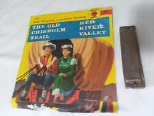 Vintage 1950s Roy Rogers Dale Evans - Harmonica & Record R380