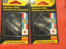 T4W--GE-- 12 VOLT- AUTO BULBS-PARKING--LICENSE -LOT OF--4-