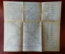 1918 Oklahoma USGS Oil Gas Survey Map Atchison Topeka Santa Fe RR Construction