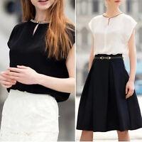 Fashion Womens Summer Casual Chiffon Shirt Tops Tank Short Sleeve T-Shirt Blouse