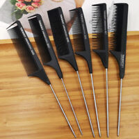 Professional Hair Tail Comb Salon Cut Comb Styling Stainless Steel Spike RAC