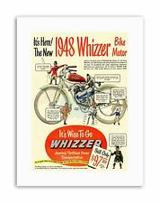 WHIZZER BIKE MOTOR POWER ATION Sport Canvas art Prints