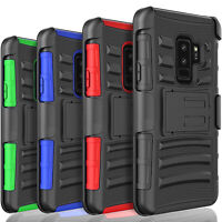 For Samsung Galaxy S9 / S9 Plus Case, Shockproof Cover+ Tempered Glass Protector