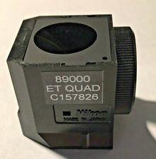 Nikon Et Quad Fluorescence Filter For Te Microscopes Dichroic Only