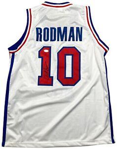 Dennis Rodman autographed signed jersey NBA Detroit Pistons PSA COA The Worm