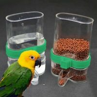 Pet Bird Acrylic Automatic Cage Water Food Feeder Parrot Cockatiel Canary NE8