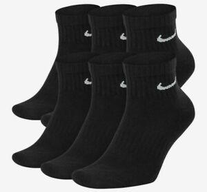 Nike Everyday Cushion Dri-Fit Ankle Socks Black 6-Pack Men's Sz 6-8 SX7669-010