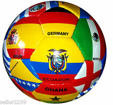 Set of 5 NEW WORLD CUP 2014 COUNTRY FLAG SOCCER BALLS 32 Panel size 4