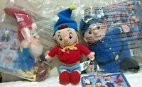 Noddy Big Ears Mr Plod Plush Toys x 3 TV Favourites McDonald's 2001 Happy Meal