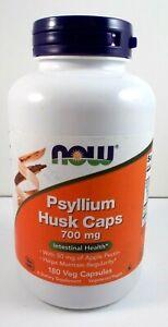 NOW Foods Psyllium Husk Caps 700 mg Helps Maintain Regularity - 180 Veg Capsules