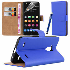 ZTE Blade V7 Lite - Wallet Flip Book Stand View Case Cover Screen Guard Blue