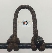1 Pack- Speckled  Tan/Black  Archery Release Bow String D Loop,BCY #24