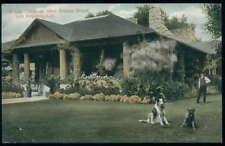 Postcard Los Angeles Ca West Adams St Log Cabin #1 1907