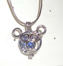 """Mickey Mouse Locket Cage, 18"""" Necklace - And A Pearl"""