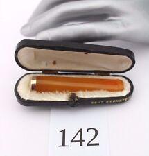 Bernstein Butterscotch Zigarettenspitze Box cigarette holder Amber 老琥珀 烟嘴 Silver