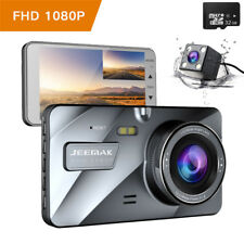 "4"" Car Dash Camera Hd1080p Front Rearview Dual Len Night Vision DVR Recorder 32g"