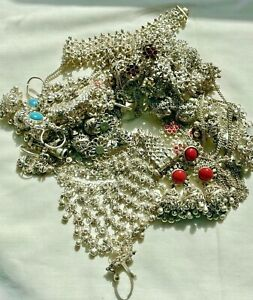 Box Lot of India Import Jewelry for Belly Dancing, Bracelets, Necklaces, Bells