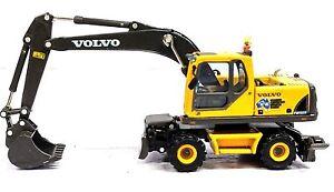 1:87 VOLVO CONSTRUCTION MOBILE EXCAVATOR - NEW DIECAST IN DISPLAY CASE