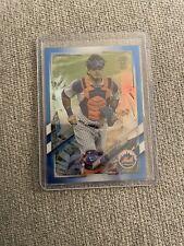 Wilson Ramos 2021 Topps Chrome Ben Baller Blue Refractor /75 SP New York Mets