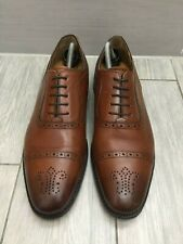 CHARLES TYRWHITT Tan/Marron Tout Cuir Goodyear Cousu Chaussures, UK 10 RRP £ 130