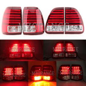 4PCS LED Left Right Rear Tail Light Brake Lamp for Lexus LX470 UZJ100 1998-2007