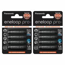 8x Panasonic Eneloop PRO AA HR06 2500mAh NiMH Rechargeable Batteries Ready 2 Use