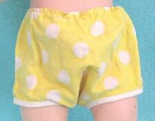 "Vintage Polka Dot Doll Panties in Yellow - fits 15"" Tiny Tears"