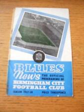 03/12/1957 Birmingham City V SAMPDORIA Friendly [] (Sellotape riparazione su spina dorsale & B