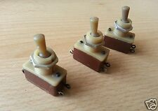 Lot of 5 USSR Military Mini Toggle Switch TV2-1 1A 220V AC On-Off Off-On NOS