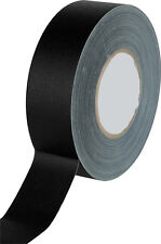 """Gaffers Tape Mini Roll 1"""" 12 Yards Black New Cable No sticky residue BGT1 5030A"""