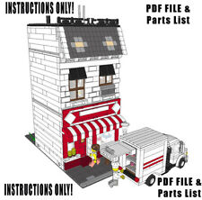 Lego Custom Modular Building Bakery INSTRUCTIONS ONLY!!