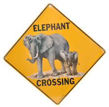 NEW Elephant Africa Crossing Road Sign