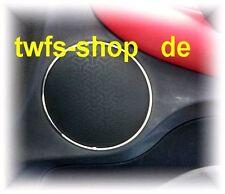 D Alfa Romeo GT Chrom Ringe für Türlautsprecher vorne Edelstahl poliert 2 Ringe