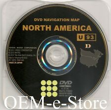 OEM Toyota Navigation DVD U.S CAN U93 Update Map FOR 2011 2012 Avalon Sienna